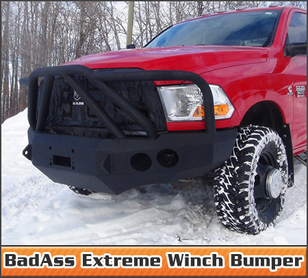 BadAss Extreme Winch Bumper