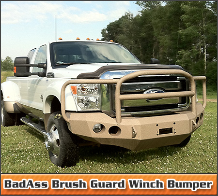 BadAss Brush Guard Winch Bumper