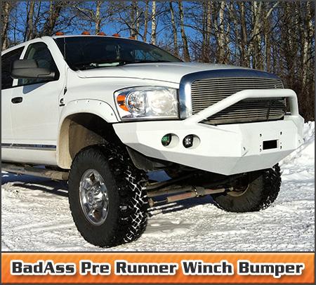 BadAss Pre Runner Winch Bumper
